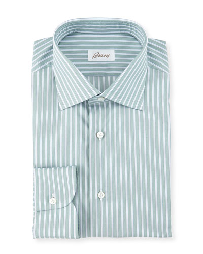 Track-Striped Dress Shirt, Multi