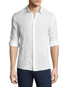 Orlebar Brown Morton Long-Sleeve Linen Shirt & Bulldog