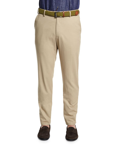 Raleigh Washed Twill Pants, Khaki