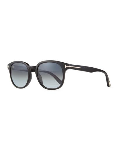 Frank Shiny Acetate Sunglasses, Black