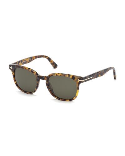 Frank Shiny Havana Sunglasses, Brown