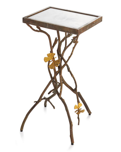 Butterfly Ginkgo Accent Table
