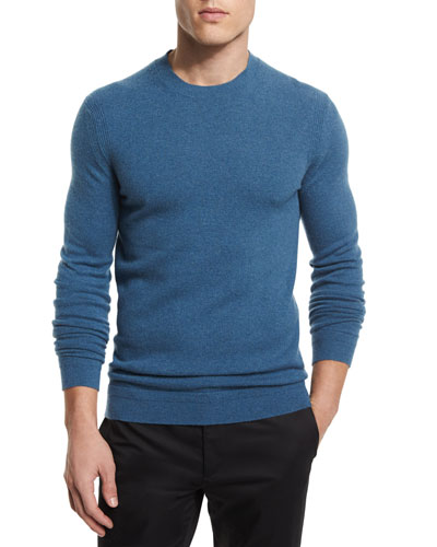 Vetel Cashmere Long-Sleeve Sweater, Teal