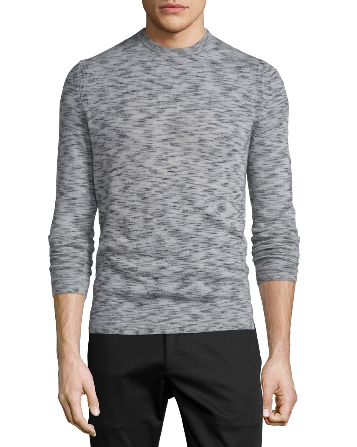 Vetel Space-Dyed Cashmere Sweater, Charcoal