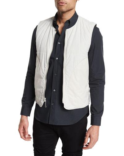 Reversible Zip-Up Nylon Vest