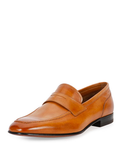 Brent Leather Penny Loafer, Brown