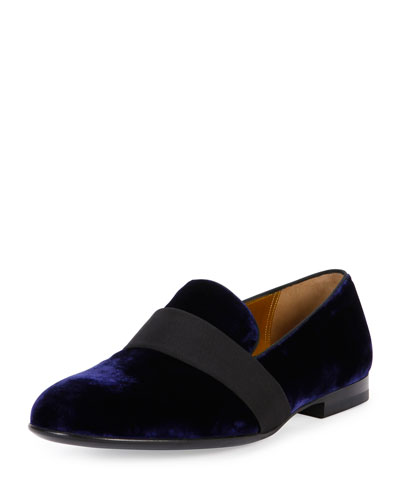 Baluan Velvet Loafer, Navy