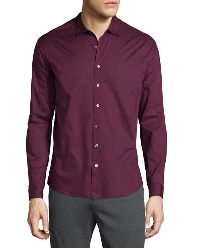 Classic Button-Down Shirt, Burgundy