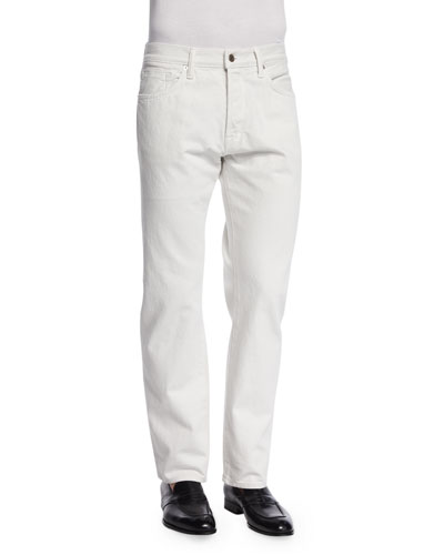 Regular Fit Denim Jeans, White