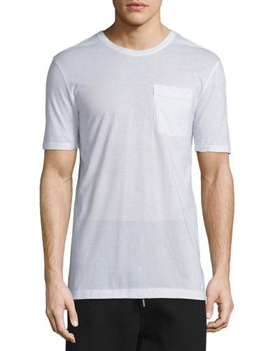 Oversized Short-Sleeve Jersey T-Shirt, Optic White