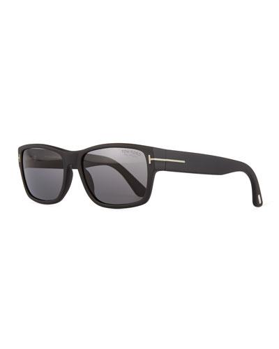 Mason Matte Polarized Sunglasses, Black