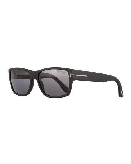 TOM FORD Mason Matte Polarized Sunglasses, Black