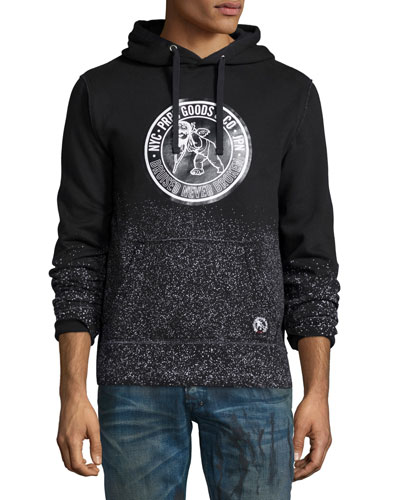 Logo-Patch Pullover Hoodie, Black