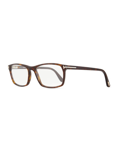 Shiny Dark Havana Eyeglasses, Brown