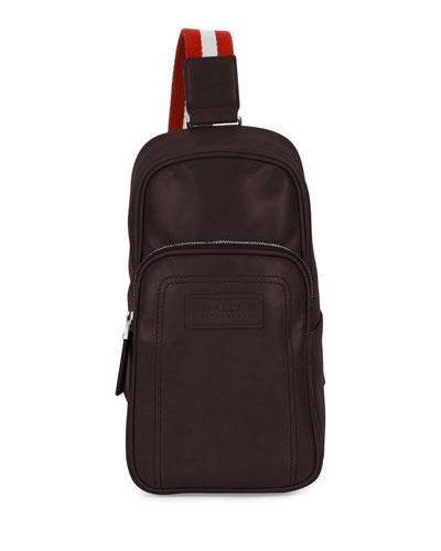 Leather Crossbody Bag, Chocolate