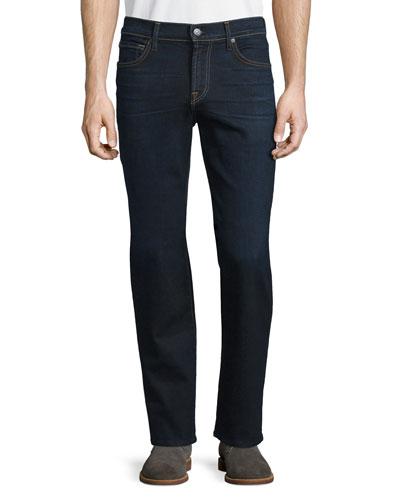 Standard-Fit Dark Blue Denim Jeans, Undiscovered