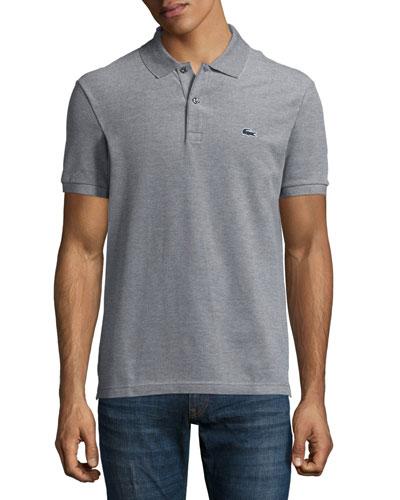 Birdseye Short-Sleeve Pique Polo Shirt