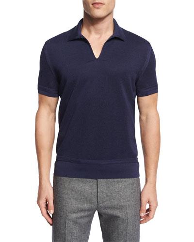 cotton pullover short sleeve shirt neiman marcus. Black Bedroom Furniture Sets. Home Design Ideas