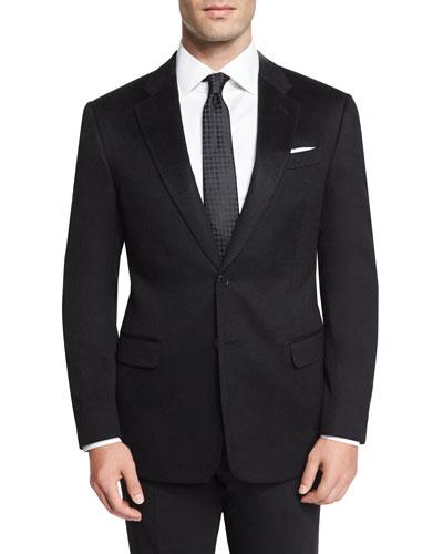 G-Line Cashmere Two-Button Jacket, Black
