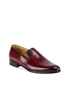 Leather Slip-On Dress Shoe, Red