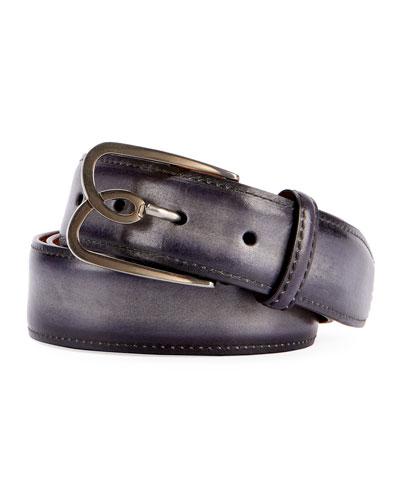 Men's B Volute Leather Belt