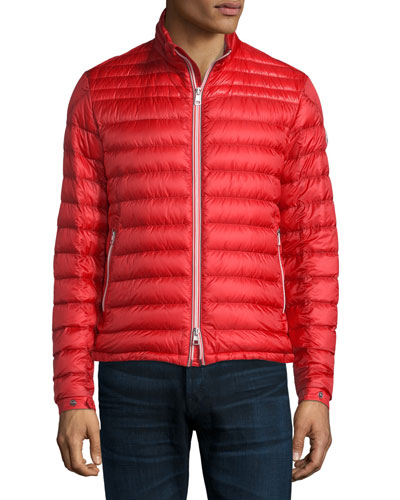 Daniel Quilted Puffer Jacket, Red