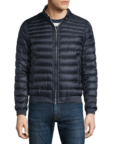 Garin Lightweight Quilted Down Jacket, Navy