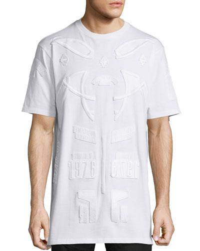 Tonal Patches Short-Sleeve T-Shirt, White