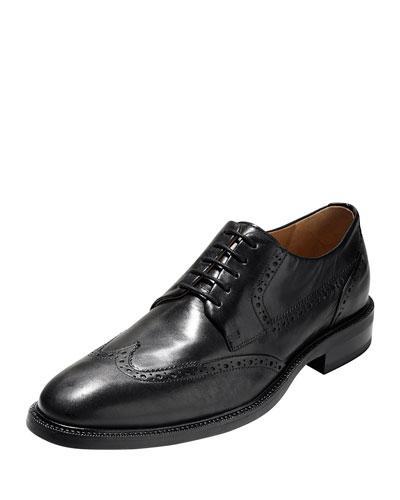 Warren Wing-Tip Leather Oxford, Black