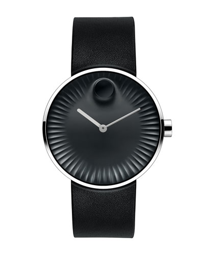 40mm Edge Watch with Rubber Strap, Black/Gray