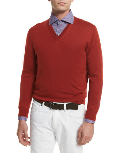 High-Performance Wool Sweater, Orange