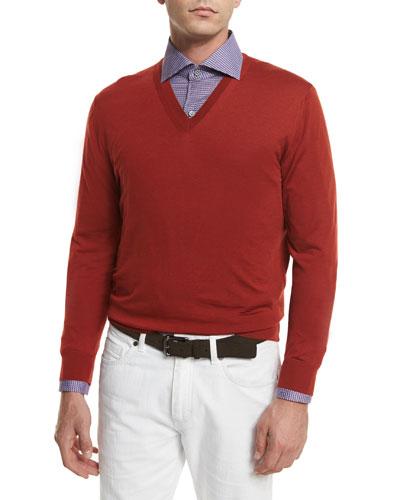 High-Performance Wool Sweater, Orange