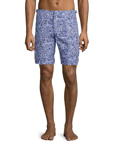 Dane Mato Grosso Printed Swim Trunks, Navy