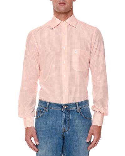 Printed Long-Sleeve Sport Shirt