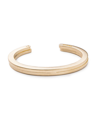 Men's Layered Brass Cuff Bracelet