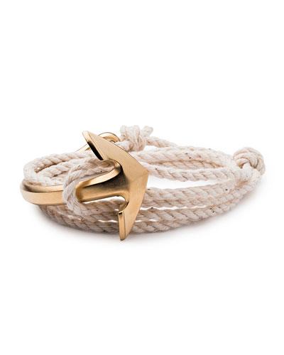 Men's Half-Anchor Rope Bracelet