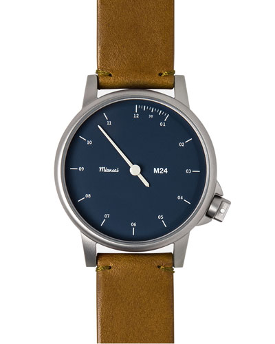 M24 Stainless Steel Watch with Leather Strap, London Tan