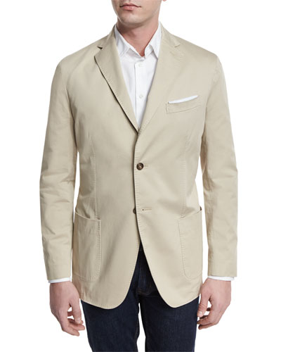 Two-Button Jacket, Tan