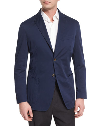 Two-Button Jacket, Chambray