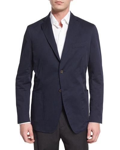 Two Button-Jacket, Indigo