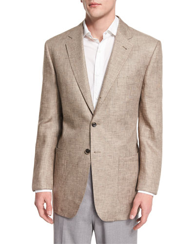 Marin Three-Button Jacket, Tan