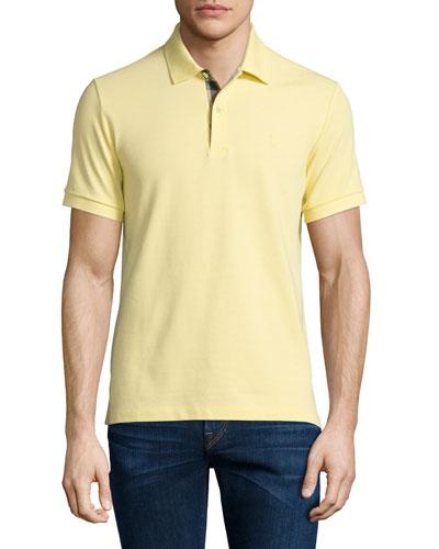 Core Short-Sleeve Pique Polo Shirt, Gorse Yellow