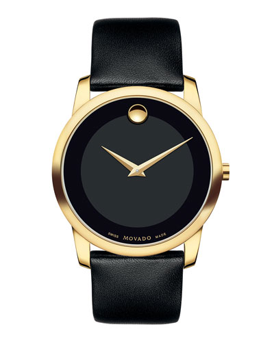 40mm Museum Classic Watch with Leather Strap