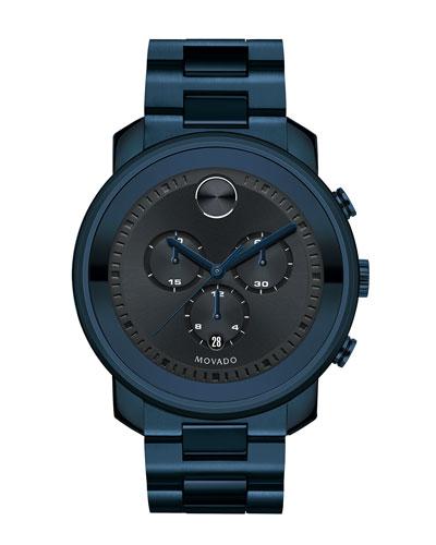 44mm Bold Chronograph Watch, Blue