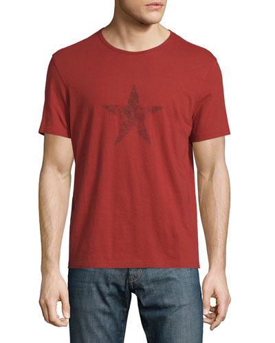 Faded Star-Graphic Short-Sleeve T-Shirt, Red Clay