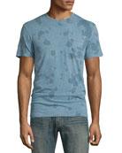 Washed Tie-Dye Short-Sleeve T-Shirt, Ocean Blue