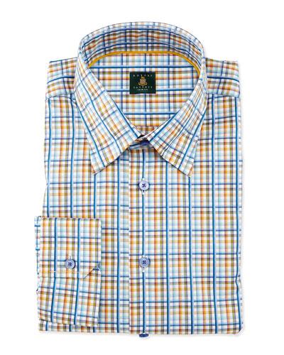 Plaid Woven Dress Shirt, Teal