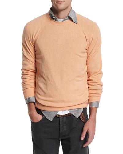 Cashmere-Blend Crewneck Sweater, Mango