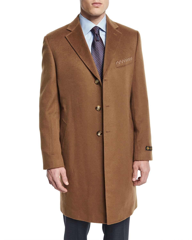 Cashmere Long Car Coat, Camel