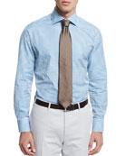 Check Long-Sleeve Sport Shirt, Aqua